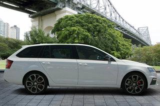 2017 Skoda Octavia NE MY18 RS DSG 169TSI White 6 Speed Sports Automatic Dual Clutch Wagon.