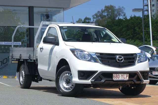 Demo Mazda BT-50 UR0YE1 XT 4x2, 2018 Mazda BT-50 UR0YE1 XT 4x2 Cool White 6 Speed Manual Cab Chassis