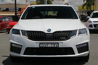 2017 Skoda Octavia NE MY18 RS DSG 169TSI White 6 Speed Sports Automatic Dual Clutch Wagon