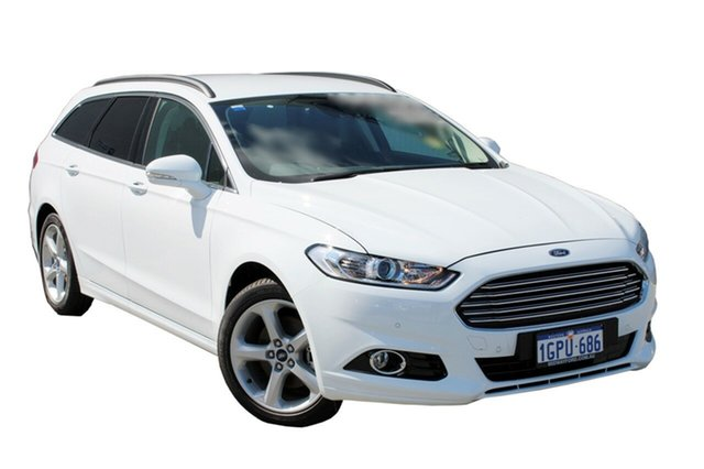 Demo Ford Mondeo MD 2018.25MY Trend PwrShift, 2018 Ford Mondeo MD 2018.25MY Trend PwrShift Frozen White 6 Speed Sports Automatic Dual Clutch Wagon