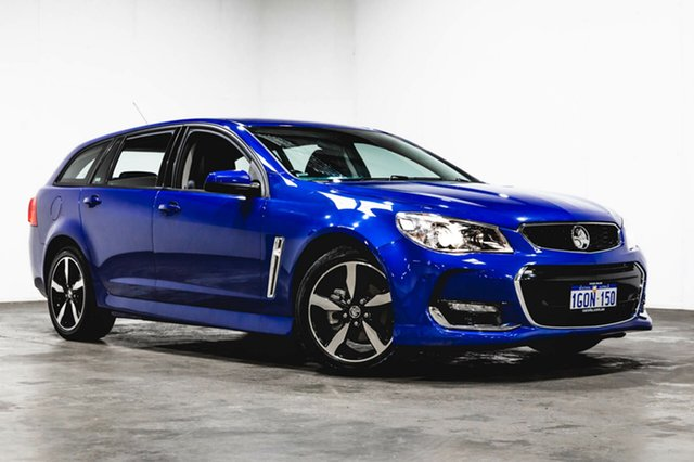 Used Holden Commodore VF II MY17 SV6 Sportwagon, 2017 Holden Commodore VF II MY17 SV6 Sportwagon Blue 6 Speed Sports Automatic Wagon