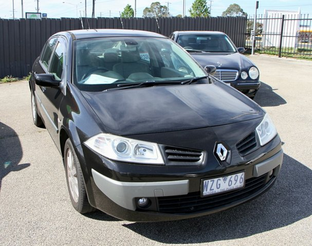 Used Renault Megane X84 Expression, 2007 Renault Megane X84 Expression Black 4 Speed Automatic Sedan