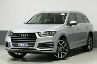 2016 Audi Q7 4M MY17 3.0 TDI Quattro (160KW) Silver 8 Speed Automatic Tiptronic Wagon.