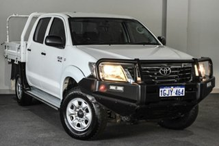 2012 Toyota Hilux GGN25R MY12 SR Double Cab White 5 Speed Automatic Utility.