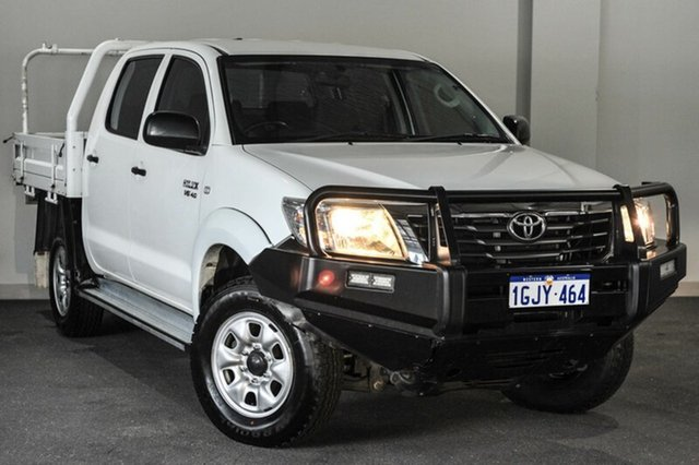 Used Toyota Hilux GGN25R MY12 SR Double Cab, 2012 Toyota Hilux GGN25R MY12 SR Double Cab White 5 Speed Automatic Utility