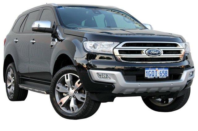 Demo Ford Everest UA 2018.00MY Titanium, 2018 Ford Everest UA 2018.00MY Titanium Shadow Black 6 Speed Sports Automatic Wagon