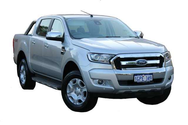 Demo Ford Ranger PX MkII MY18 XLT Double Cab, 2018 Ford Ranger PX MkII MY18 XLT Double Cab Ingot Silver 6 Speed Sports Automatic Utility