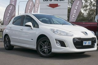 2013 Peugeot 308 T7 MY13 Sportium White 6 Speed Sports Automatic Hatchback.
