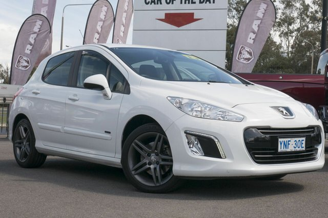 Used Peugeot 308 T7 MY13 Sportium, 2013 Peugeot 308 T7 MY13 Sportium White 6 Speed Sports Automatic Hatchback