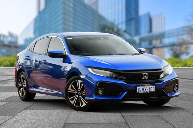 Demo Honda Civic 10th Gen MY18 VTi-LX, 2018 Honda Civic 10th Gen MY18 VTi-LX Brilliant Sporty Blue 1 Speed Constant Variable Hatchback