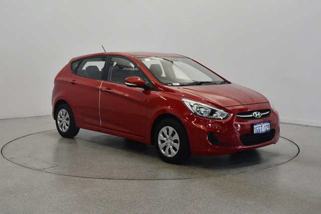Used Hyundai Accent RB4 MY17 Active, 2017 Hyundai Accent RB4 MY17 Active Veloster Red 6 Speed Constant Variable Hatchback