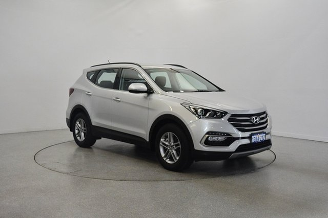 Used Hyundai Santa Fe DM4 MY18 Active, 2017 Hyundai Santa Fe DM4 MY18 Active Platinum Silver 6 Speed Sports Automatic Wagon
