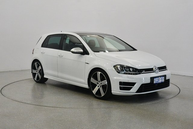 Used Volkswagen Golf VII MY15 R 4MOTION, 2014 Volkswagen Golf VII MY15 R 4MOTION Pure White 6 Speed Manual Hatchback