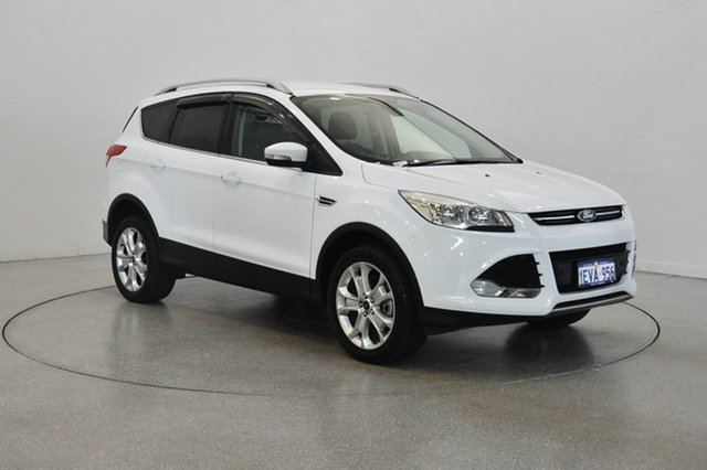 Used Ford Kuga TF MY15 Trend PwrShift AWD, 2015 Ford Kuga TF MY15 Trend PwrShift AWD White 6 Speed Sports Automatic Dual Clutch Wagon