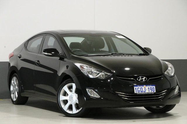 Used Hyundai Elantra MD Premium, 2011 Hyundai Elantra MD Premium Black 6 Speed Automatic Sedan