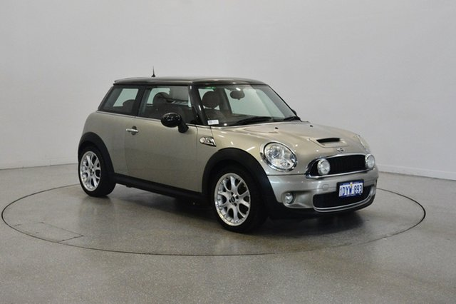 Used Mini Hatch R56 Cooper S Chilli, 2007 Mini Hatch R56 Cooper S Chilli Gold 6 Speed Manual Hatchback