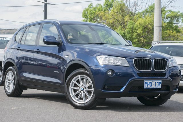 Used BMW X3 F25 xDrive20d Steptronic, 2011 BMW X3 F25 xDrive20d Steptronic Blue 8 Speed Automatic Wagon
