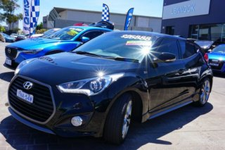 2016 Hyundai Veloster FS4 Series II SR Coupe D-CT Turbo + Black 7 Speed Sports Automatic Dual Clutch.