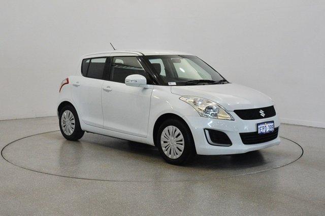 Used Suzuki Swift FZ MY14 GL, 2014 Suzuki Swift FZ MY14 GL White 4 Speed Automatic Hatchback