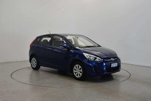 Used Hyundai Accent RB3 MY16 Active, 2016 Hyundai Accent RB3 MY16 Active Blue 6 Speed Constant Variable Hatchback