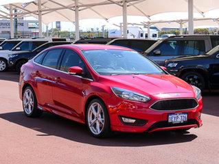 2015 Ford Focus LZ Titanium Red 6 Speed Automatic Sedan.
