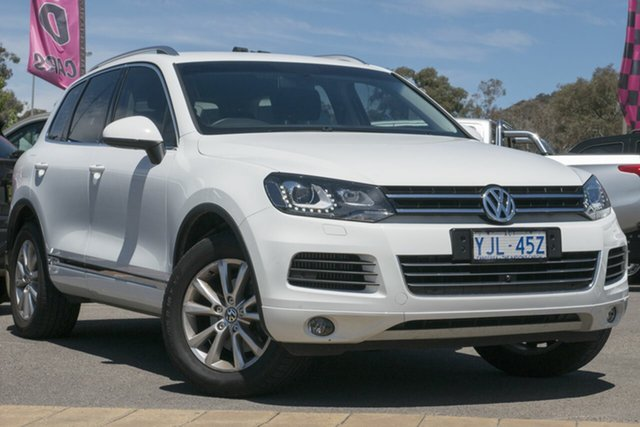 Used Volkswagen Touareg 7P MY13 150TDI Tiptronic 4MOTION, 2013 Volkswagen Touareg 7P MY13 150TDI Tiptronic 4MOTION Campanella White 8 Speed Sports Automatic