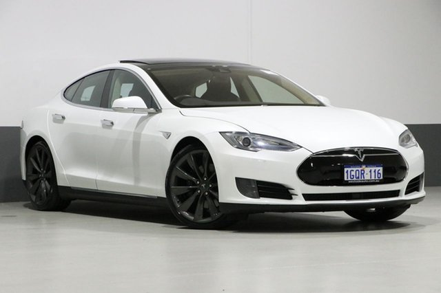 Used Tesla Model S  70D, 2015 Tesla Model S 70D Pearl White 1 Speed Automatic Hatchback