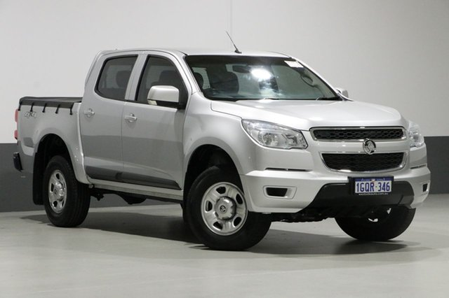 Used Holden Colorado RG MY15 LS (4x4), 2015 Holden Colorado RG MY15 LS (4x4) Silver 6 Speed Manual Crew Cab Chassis