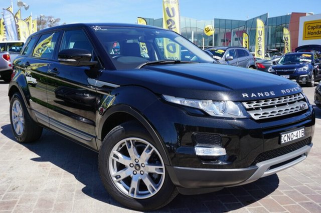 Used Land Rover Range Rover Evoque L538 MY13 TD4 CommandShift Pure, 2013 Land Rover Range Rover Evoque L538 MY13 TD4 CommandShift Pure Black 6 Speed Sports Automatic