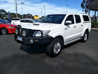 2015 Toyota Hilux KUN26R MY14 SR5 Double Cab White 5 Speed Automatic Utility.