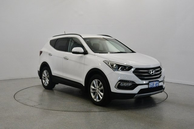 Used Hyundai Santa Fe DM3 MY16 Elite, 2016 Hyundai Santa Fe DM3 MY16 Elite Creamy White 6 Speed Sports Automatic Wagon