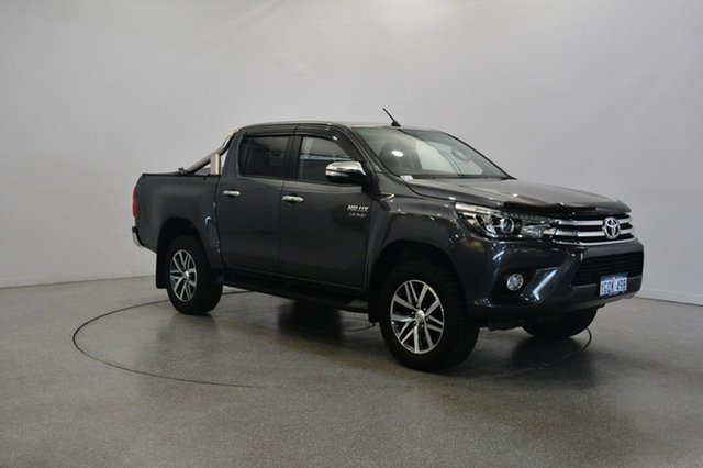 Used Toyota Hilux GUN126R SR5 Double Cab, 2015 Toyota Hilux GUN126R SR5 Double Cab Grey 6 Speed Manual Utility