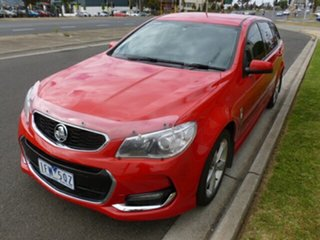2015 Holden Commodore VF MY15 SV6 Sportwagon Red 6 Speed Sports Automatic Wagon.