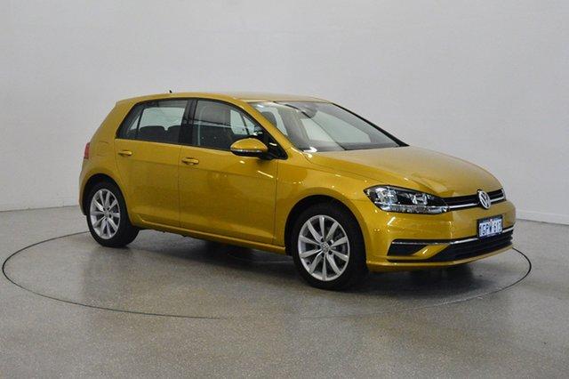 Used Volkswagen Golf 7.5 MY17 110TSI DSG Comfortline, 2017 Volkswagen Golf 7.5 MY17 110TSI DSG Comfortline Turmeric Yellow 7 Speed