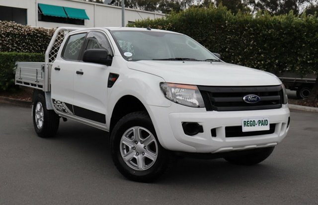 Used Ford Ranger PX XL Double Cab, 2012 Ford Ranger PX XL Double Cab Cool White 6 Speed Manual Cab Chassis