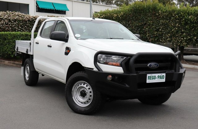 Used Ford Ranger PX MkII XL Double Cab, 2015 Ford Ranger PX MkII XL Double Cab Cool White 6 Speed Manual Cab Chassis
