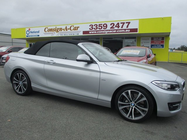 Used BMW 228i F23 Sport Line, 2015 BMW 228i F23 Sport Line Silver 8 Speed Sports Automatic Convertible
