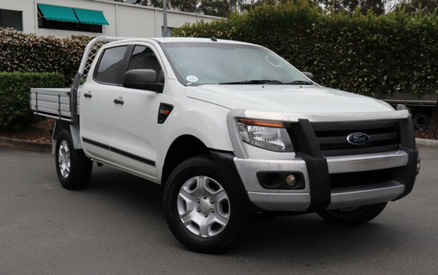 Used Ford Ranger PX XL Double Cab, 2014 Ford Ranger PX XL Double Cab White 6 Speed Manual Cab Chassis