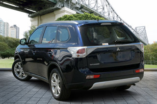 2013 Mitsubishi Outlander ZJ MY14 ES 4WD Blue 6 Speed Constant Variable Wagon.