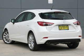 2018 Mazda 3 BN5438 SP25 SKYACTIV-Drive Snowflake White 6 Speed Sports Automatic Hatchback.