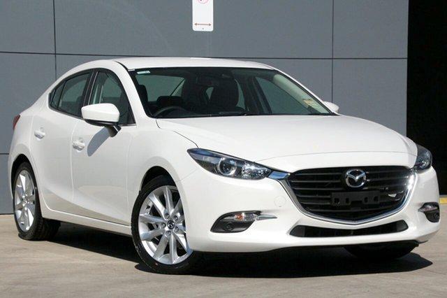 New Mazda 3 BN5238 SP25 SKYACTIV-Drive, 2018 Mazda 3 BN5238 SP25 SKYACTIV-Drive Snowflake White 6 Speed Sports Automatic Sedan