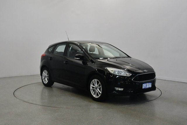 Used Ford Focus LZ Trend, 2015 Ford Focus LZ Trend Black 6 Speed Manual Hatchback