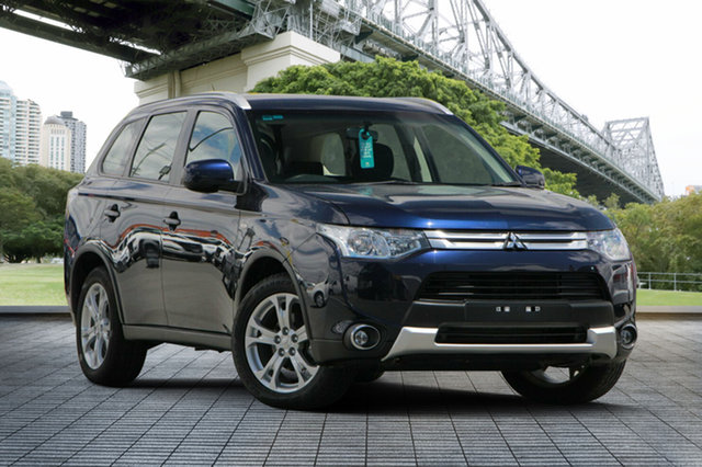 Used Mitsubishi Outlander ZJ MY14 ES 4WD, 2013 Mitsubishi Outlander ZJ MY14 ES 4WD Blue 6 Speed Constant Variable Wagon