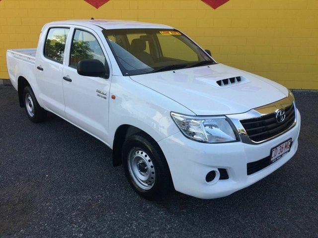 Used Toyota Hilux KUN16R MY14 SR Double Cab 4x2, 2013 Toyota Hilux KUN16R MY14 SR Double Cab 4x2 White 5 Speed Manual Utility