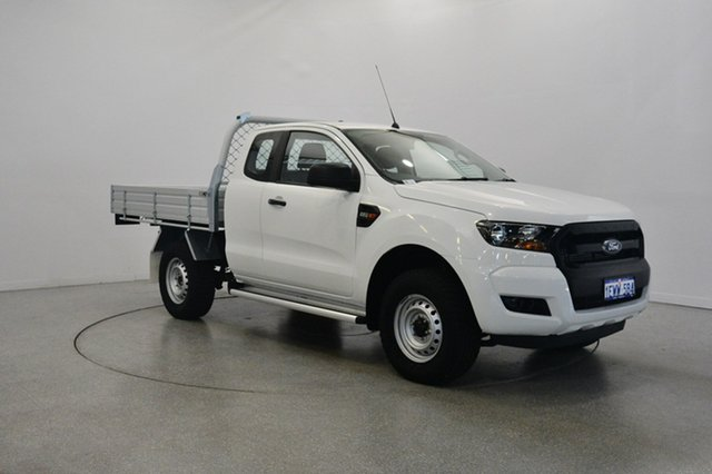 Used Ford Ranger PX MkII XL Double Cab 4x2 Hi-Rider, 2015 Ford Ranger PX MkII XL Double Cab 4x2 Hi-Rider Cool White 6 Speed Sports Automatic Cab Chassis