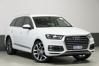 2017 Audi Q7 4M MY18 3.0 TDI Quattro (160kW) White 8 Speed Automatic Tiptronic Wagon.