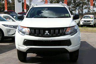 2018 Mitsubishi Triton MQ MY18 GLX 4x2 White 6 Speed Manual Cab Chassis