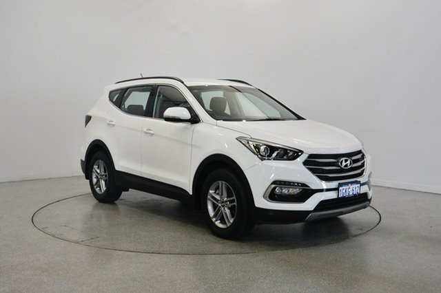 Used Hyundai Santa Fe DM4 MY18 Active, 2017 Hyundai Santa Fe DM4 MY18 Active Pure White 6 Speed Sports Automatic Wagon