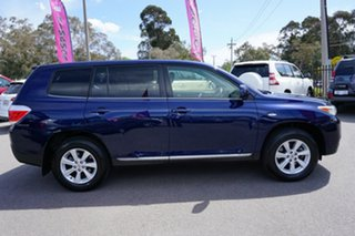 2011 Toyota Kluger GSU40R MY11 KX-R 2WD Blue 5 Speed Sports Automatic Wagon