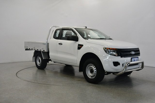 Used Ford Ranger PX XL Super Cab 4x2 Hi-Rider, 2015 Ford Ranger PX XL Super Cab 4x2 Hi-Rider Cool White 6 Speed Sports Automatic Cab Chassis
